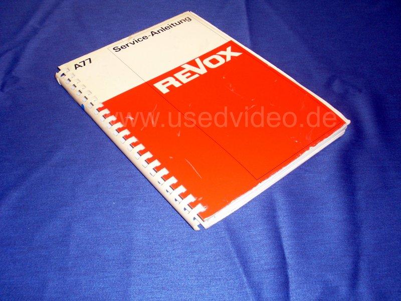 A77 Revox Service Manual