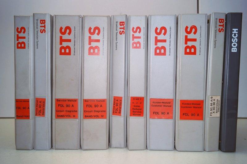 10 Service Manuals BTS FDL-90 Filmabtaster