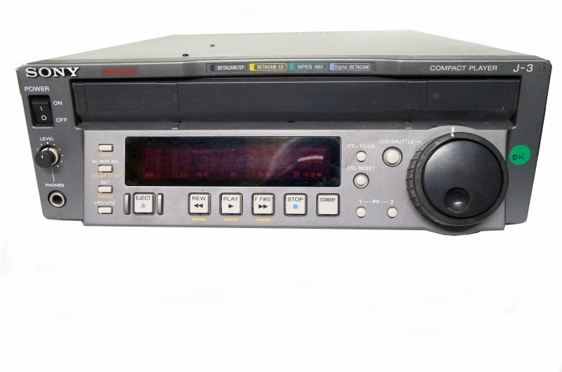 SONY J-3 Componete Out, Multiformat Player